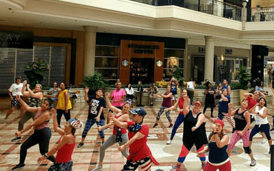 SREG's Mall at Wellington Green Continues Zumba For The Seasons With A Red, White, and Blue Themed Class
